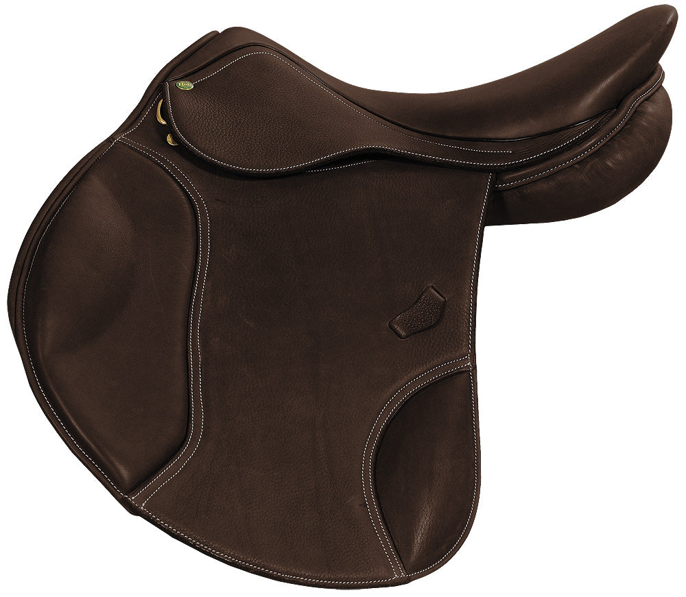 Carmel Covered Close Contact Jumping Saddle - Henri de Rivel - Breeches.com
