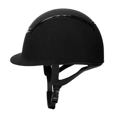 TuffRider Show Time Plus Helmet |Protective Head Gear for Equestrian Riders - SEI Certified, Tough and Durable - Black - Breeches.com