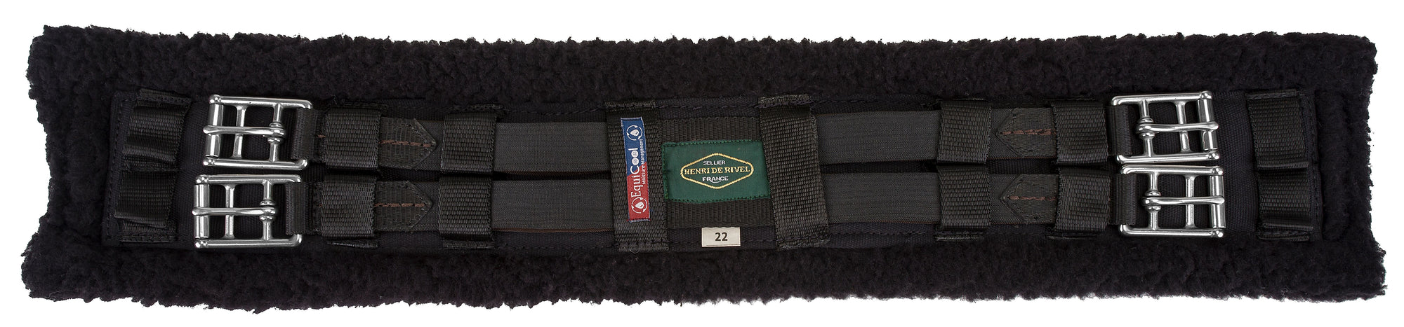 Henri de Rivel Dressage EquiCool Fleece Girth - Henri de Rivel - Breeches.com