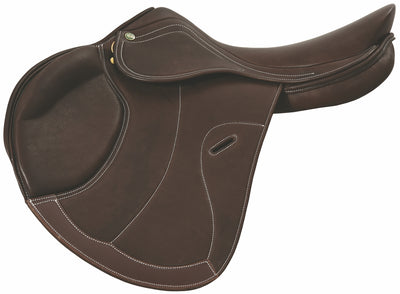 Galia Covered Close Contact Saddle - Henri de Rivel - Breeches.com