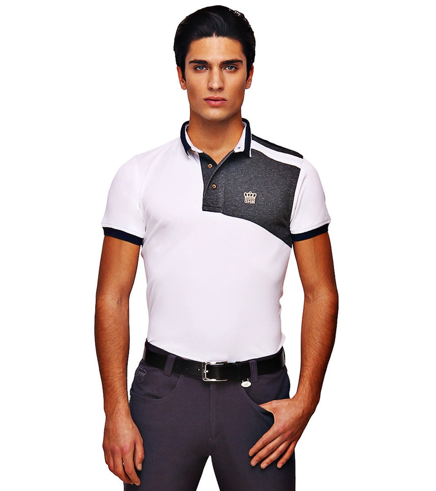 George H Morris Men's Hunter Short Sleeve Polo Sport Shirt - George H Morris - Breeches.com