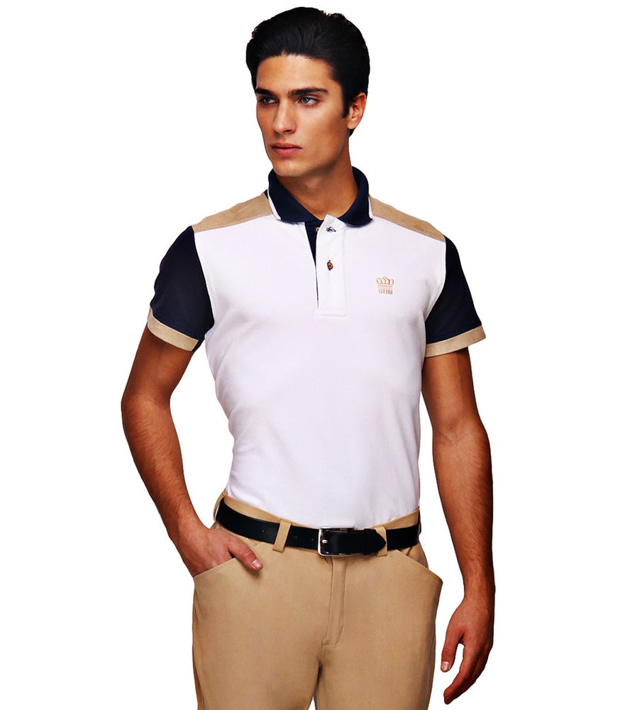 George H Morris Men's Reserve Short Sleeve Polo Sport Shirt_1