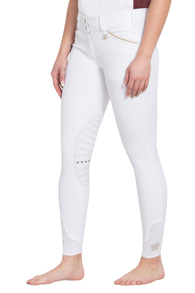 George H Morris Ladies Add Back Silicone Knee Patch Breeches_3