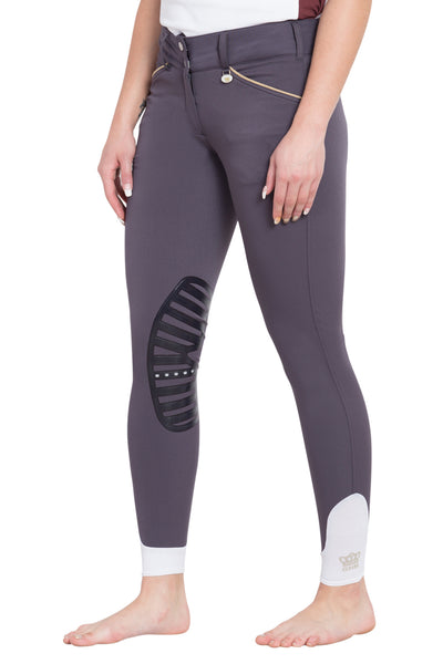 George H Morris Ladies Add Back Silicone Knee Patch Breeches_14