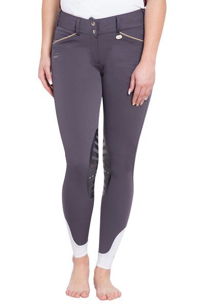 George H Morris Ladies Add Back Silicone Knee Patch Breeches - Breeches.com