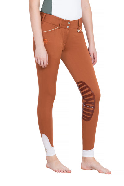 George H Morris Ladies Add Back Silicone Knee Patch Breeches_27