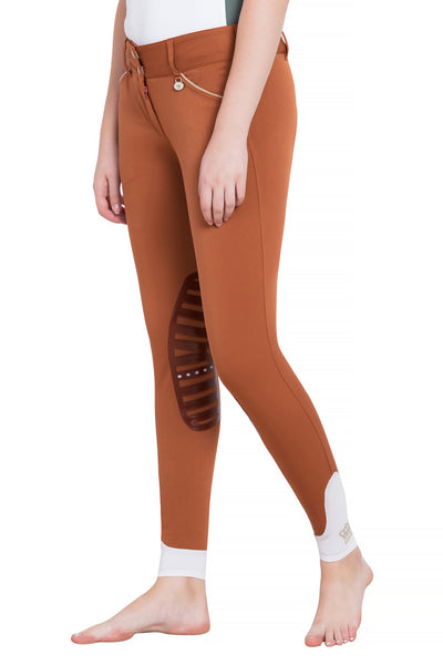 George H Morris Ladies Add Back Silicone Knee Patch Breeches_25
