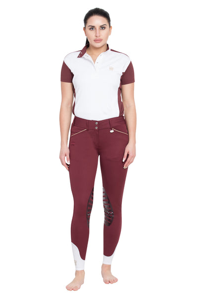 George H Morris Ladies Add Back Silicone Knee Patch Breeches_33