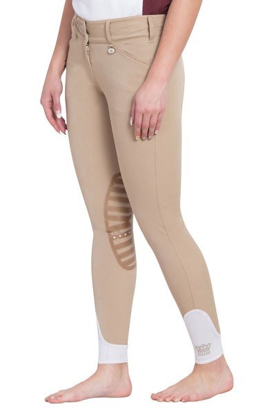 George H Morris Ladies Add Back Silicone Knee Patch Breeches_37