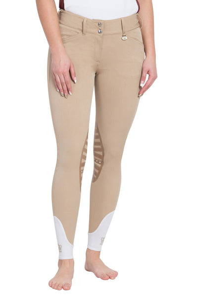 George H Morris Ladies Add Back Silicone Knee Patch Breeches_36