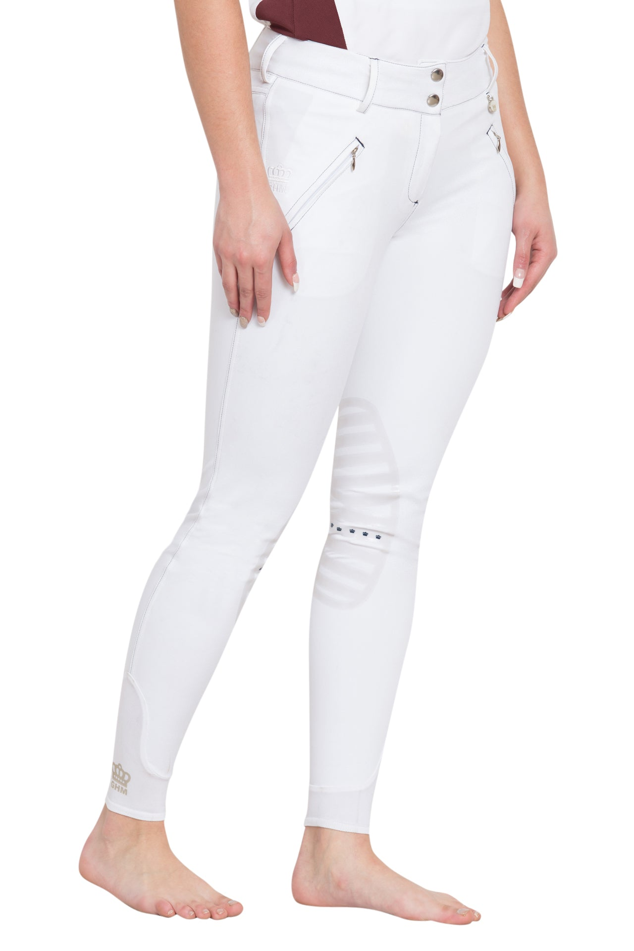George H Morris Ladies Derby Silicone Knee Patch Breeches_1