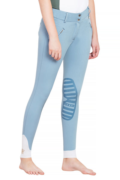 George H Morris Ladies Derby Silicone Knee Patch Breeches - George H Morris - Breeches.com