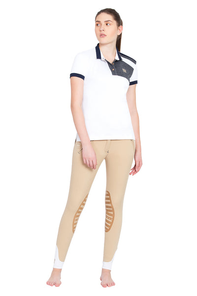 Ladies Hunter Short Sleeve Polo Sport Shirt - George H Morris - Breeches.com