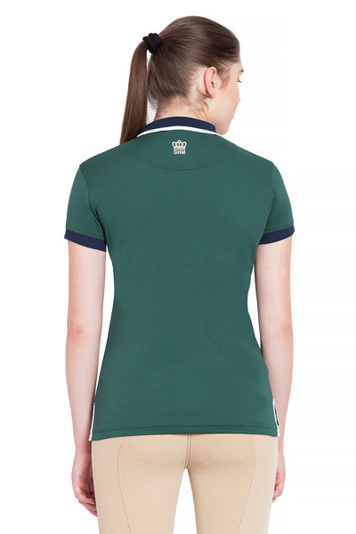 George H Morris Ladies Hunter Short Sleeve Polo Sport Shirt - George H Morris - Breeches.com