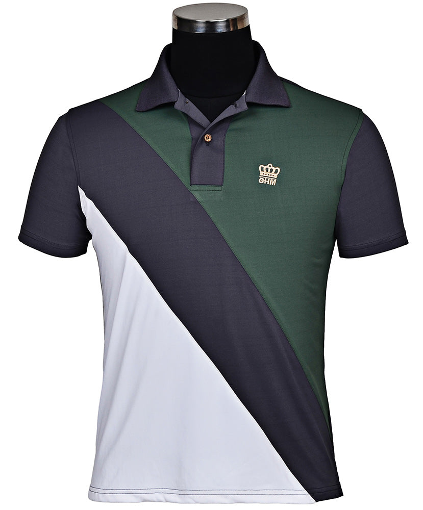 George H Morris Men's Pro Sport Short Sleeve Polo Sport Shirt_1