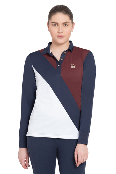 George H Morris Ladies Pro Sport Long Sleeve Polo Sport Shirt - Breeches.com