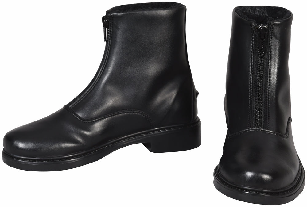 Ladies Starter Winter Fleece-Lined Front Zip Paddock Boots