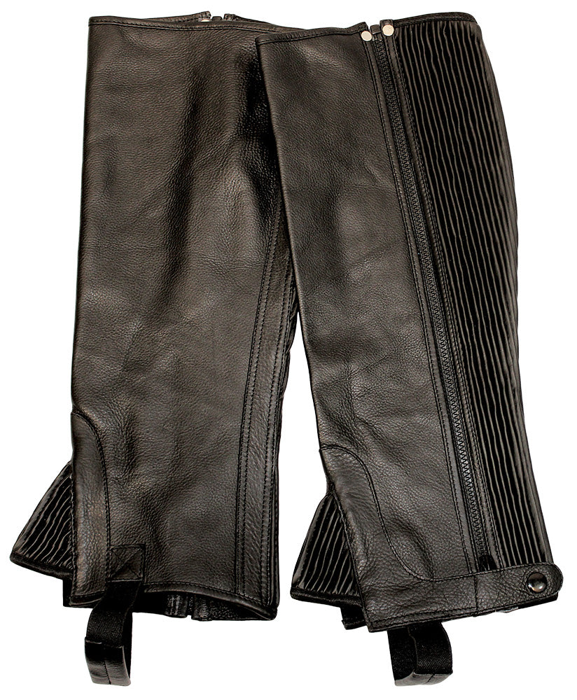 TuffRider Plus Rider Full Grain Half Chaps - Breeches.com