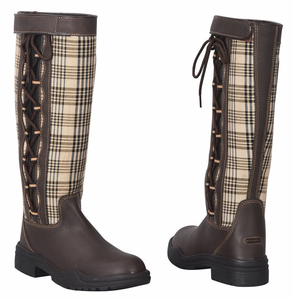 Ladies Ajuste Waterproof Leather Country Boots - Baker - Breeches.com