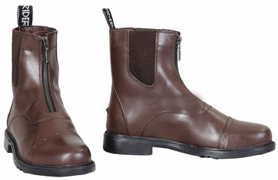 TuffRider Ladies Baroque Front Zip Paddock Boots w/ Metal Zipper - Breeches.com