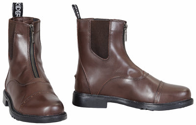 TuffRider Men's Baroque Front Zip Paddock Boots w/ Metal Zipper - TuffRider - Breeches.com