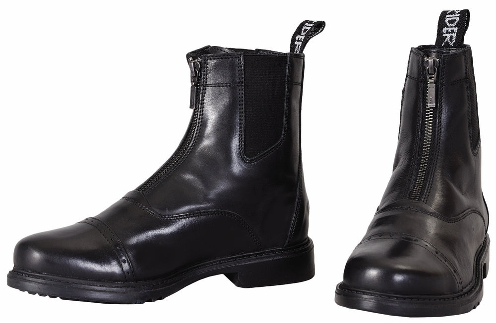 Men's Baroque Front Zip Paddock Boots w/ Metal Zipper - TuffRider - Breeches.com