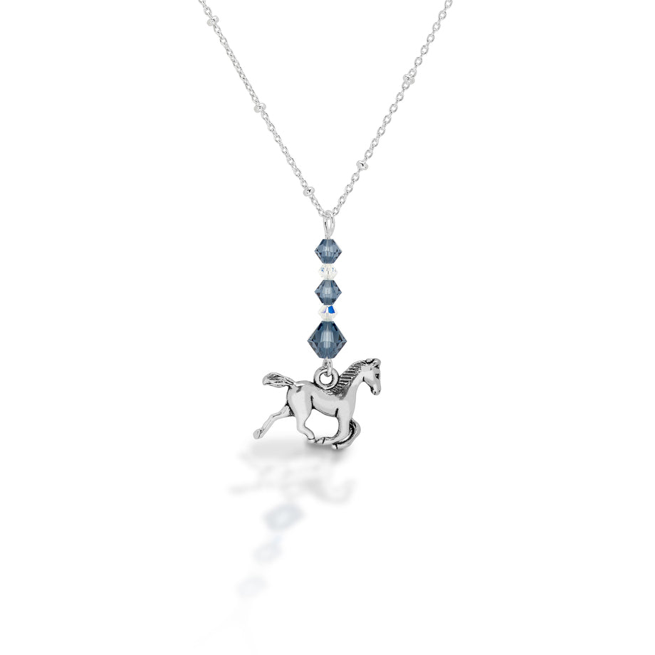 Kasaro Designs Beaded Horse Sterling Chain Necklace_1
