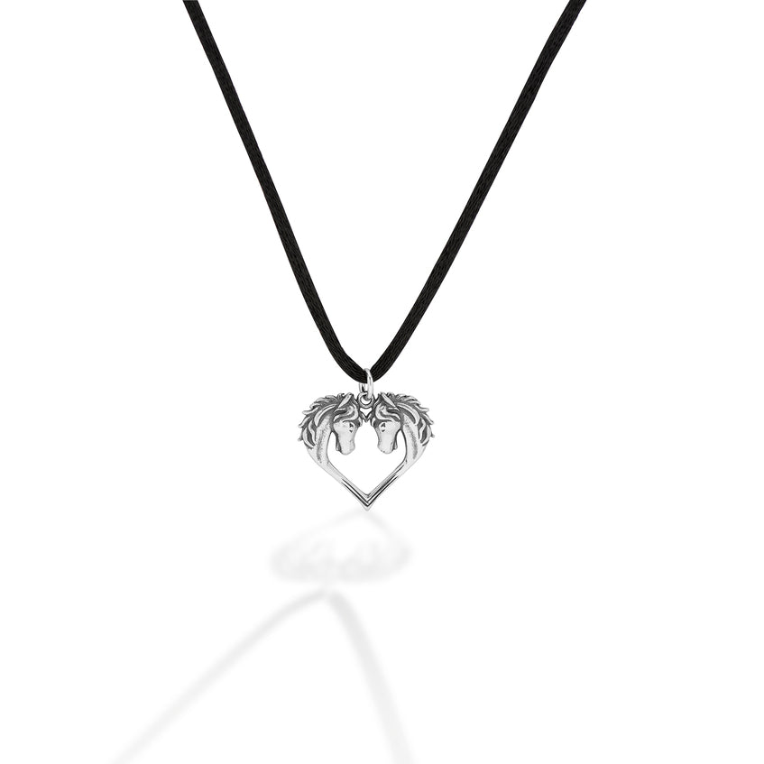 Kasaro Designs Heart Horse Necklace - Breeches.com