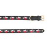 Dog Collar - Leather with Christmas Santa Hat Embroidery - Halo - Breeches.com
