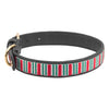 Halo Dog Collar - Leather with Christmas Stripes Embroidery - Halo - Breeches.com