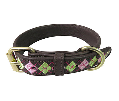 Dog Collar - Leather with Buffy Dog Collar - Halo - Breeches.com