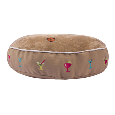 Halo Round Martinis Dog Bed - Breeches.com