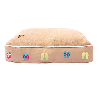 Flip Flops Rectangular Dog Bed - Halo - Breeches.com