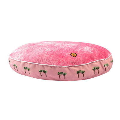 Halo Palm Trees Round Dog Bed_1