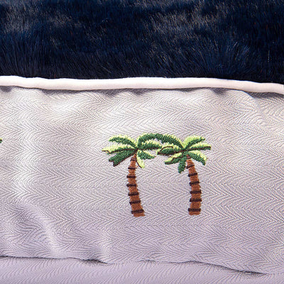 Palm Trees Round Dog Bed - Halo - Breeches.com