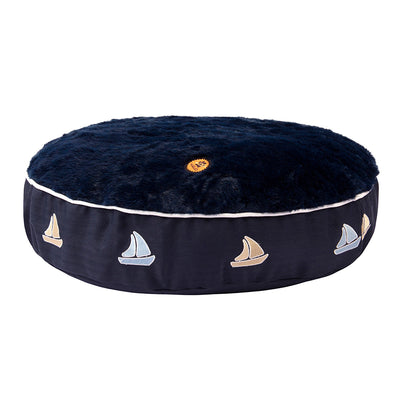 Sailboat Round Dog Bed - Halo - Breeches.com