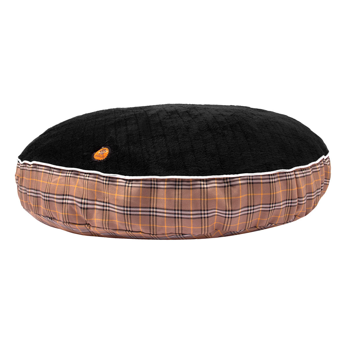 Classic Plaid Round Dog Bed - Halo - Breeches.com
