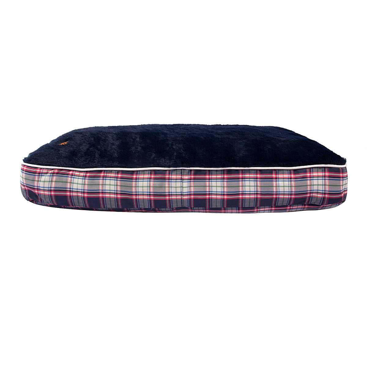 Amber Plaid Rectangular Dog Bed - Halo - Breeches.com