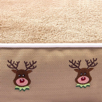 Halo Reindeer Round Dog Bed - Breeches.com
