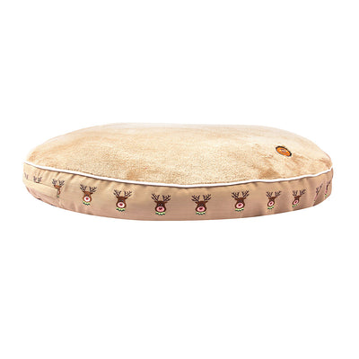 Halo Reindeer Round Dog Bed_1