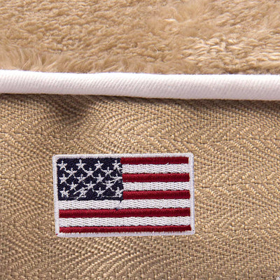 Halo American Flag Round Dog Bed - Halo - Breeches.com