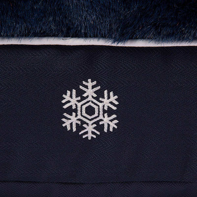 Halo Snowflakes Rectangular Dog Bed_4