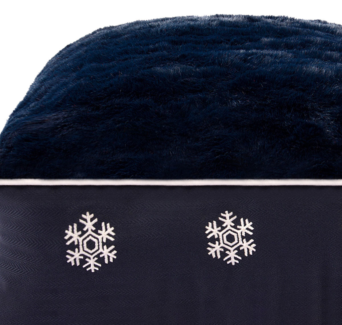 Snowflakes Rectangular Dog Bed - Halo - Breeches.com