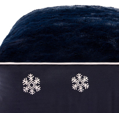 Halo Snowflakes Rectangular Dog Bed_1