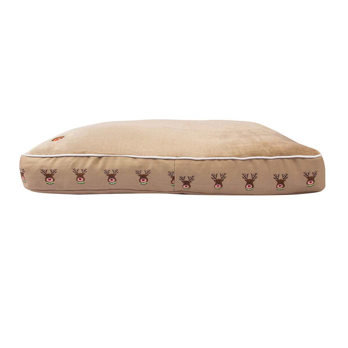 Reindeer Rectangular Dog Bed - Halo - Breeches.com