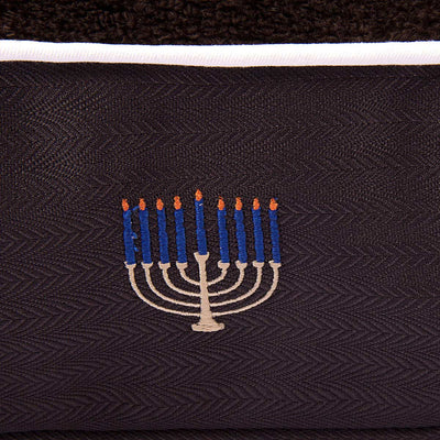 Hanukkah Rectangular Dog Bed - Halo - Breeches.com