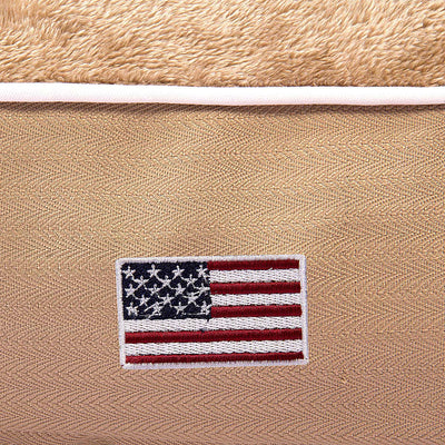 Halo American Flag Rectangular Dog Bed - Halo - Breeches.com