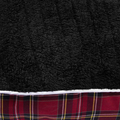 Halo EC Red Plaid Round Dog Bed - Halo - Breeches.com