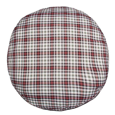 Halo Duck Green Plaid Round Dog Bed - Breeches.com
