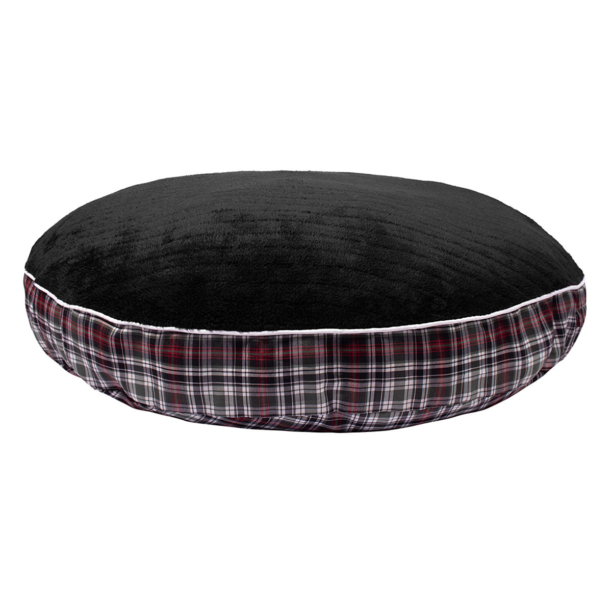 Duck Green Plaid Round Dog Bed - Halo - Breeches.com